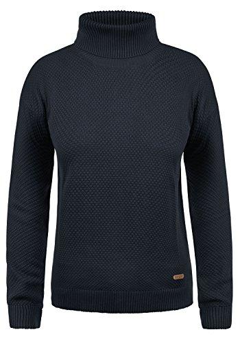 DESIRES Sina Damen Strickpullover Feinstrick mit Rollkragen aus 100% Baumwolle, Größe:XL, Farbe:Insignia Blue (1991) (Baumwoll-rollkragen-pullover)