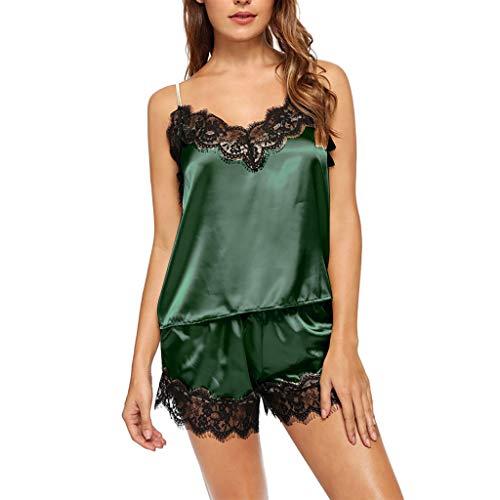 MIRRAY Damen Strapsen Nachtwäsche Reizvolle Erotik Dessous Set V-Ausschnitt Spitze Unterwäsche Nachthemd Negligee