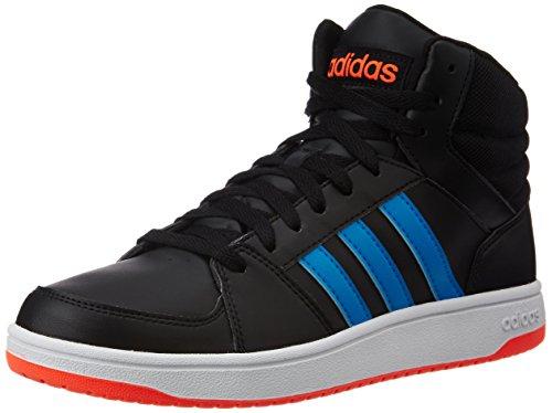 adidas Herren Hoops VS Mid Turnschuhe, Negro (Negbas / Azusol / Rojsol), 45 1/3 EU
