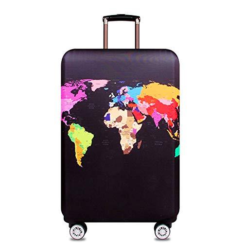 Cover Proteggi Copertura per valigie 18-32 pollici Coperchio per bagagli in fibra di bambù, fibra di carbonio (carta geografica 1, XL)
