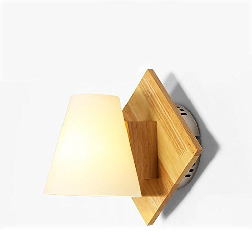 HOHE SHOP/Lampe murale contemporaine simple en bois massif créative salon japonais escalier escalier balcon lampe de chevet nordique