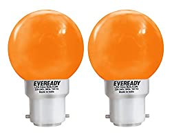 Eveready 0.5-Watt 1 UP Deco LED Bulb (Orange and Pack of 2)