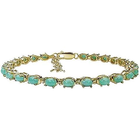 Goldancé - Bracciale da Donna argento sterling 925 placcati in oro vero Smeraldo - B265E_SGP