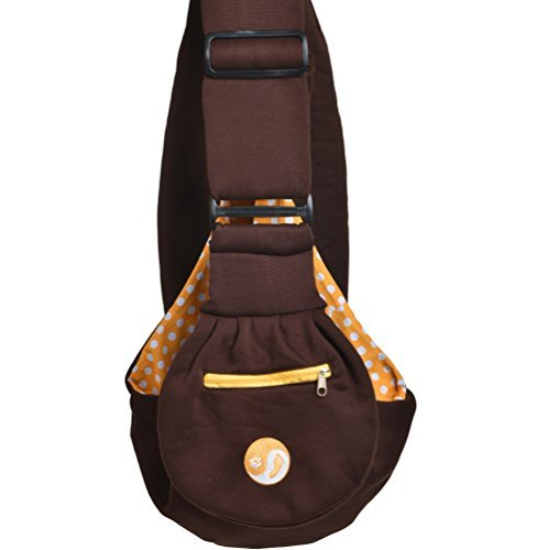 Timetuu adjustable handsfree dog carrier sling with unique buckles, zippered pocket and water proof bag for small dogs… 1