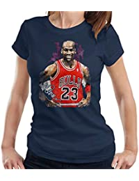 Sidney Maurer Original Portrait of Michael Jordan Chicago Bulls Vest Womens T-Shirt