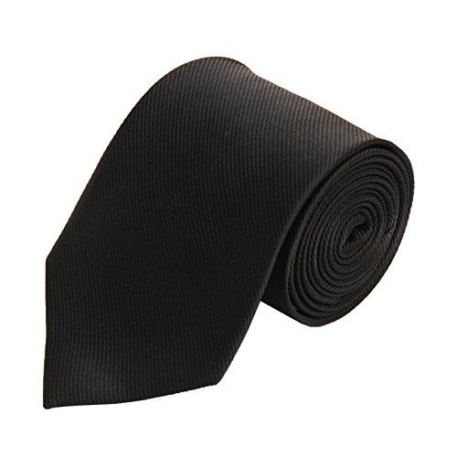Krawatte Herren für Arbeit, Hochzeit, Business / schwarz