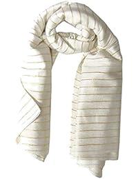 Lurex Tuch weiß und gold