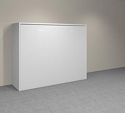 INSIDE 75 Agata - Armario con cama abatible de 140 x 18 x 190 cm, color blanco