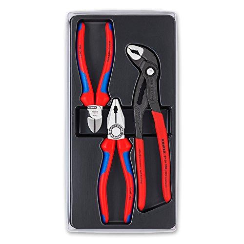 Knipex 00 20 09 V01 – Bestseller-Paket mit drei Zangen