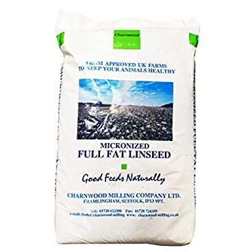 Charnwood Milling Micronised Full Fat Linseed Meal 20 Kg Enhanced Horse Feed High In Healthy Omega 3, 6 and 9 Fatty Acids, Beneficial to All Equines