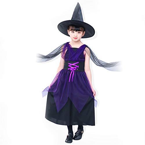 ZHOUXING Kinder Halloween Skeleton Hexe Kostüm Fee Kleid Mädchen Lustige Cosplay Party Dance Tutu Kleid Cosplay Evil Queen Theme - Skeleton Dance Kostüm