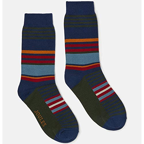 Joules Mens Striking Cotton Blend Contrasting 1 Pack Socks (Little Mix-outfits)