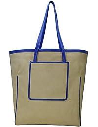 Shankar Produce - Fashionable Canvas Shoulder Bag - Stylish Hand Held Bag - DesignerTote Bag Bag - White