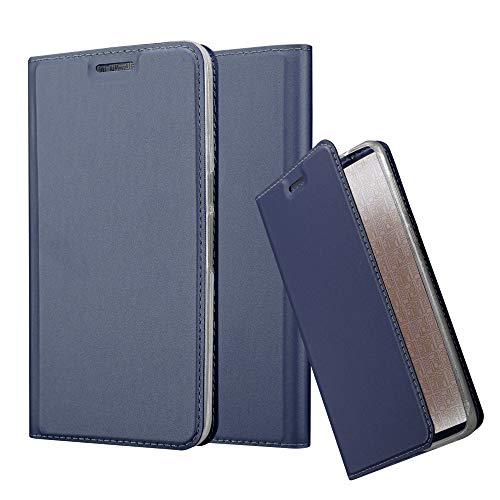 Cadorabo Coque pour Huawei Nexus 6P en Classy Bleu FONCÉ - Housse Protection avec Fermoire Magnétique, Stand Horizontal et Fente Carte - Portefeuille Etui Poche Folio Case Cover