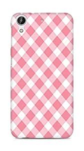 Amez designer printed 3d premium high quality back case cover for HTC Desire 626 G (Stripe white and pink chevron)