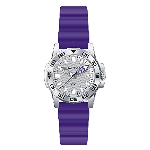 Nautica Men's Watch NAI12534G Rubber Purple 10ATM