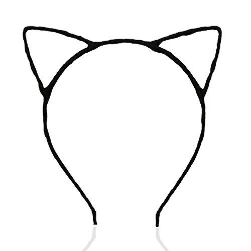 LEORX Katze Ohren verdrahtet Stirnband Kostüm Kostümparty (Passt Katze Schwarze)