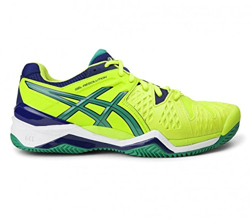 Asics Scarpe Gel-Resolution 6 Clay, Lime/Pine/Indigo Blue (EU 46 UK 10.5 USA 11.5)