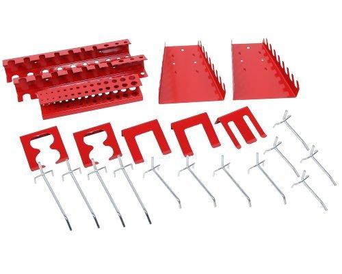 Lochwandhaken Hakensortiment Werkzeuglochwandhaken Metall 22 - teilig, rot