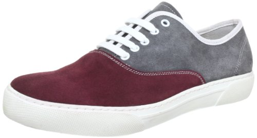 Aces of London Qs 120036, Chaussures bateau homme Multicolore - Mehrfarbig (Wine /Grey)