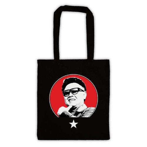 Kim Jong Il Retro Tote Bag Nero