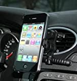 SAVFY - Soporte de bicicleta para móviles, GPS, MP4 (giro de 360 grados, anchura máxima de 85 mm) negro negro iPhone 5S/5-Air Vent Holder