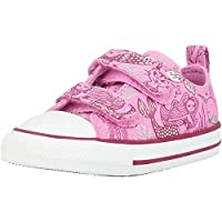 Converse Chuck Taylor All Star 2V Underwater Party Peony Pink/Rose Maroon Canvas Infant Trainers Shoes