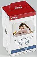 Canon KP-108IN Kit Cartouche d'encre d'origine et papier 108 Feuilles 10x15cm Tricolore