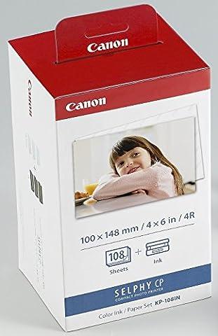 Canon - KP-108IN - Cartouche d'Encre d'Origine + Papier 108 Feuilles - Tricolore