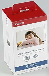 Canon KP-108IN Druckerkartusche und Papier 100 x 148 mm für Selphy CP Fotodrucker-Serie