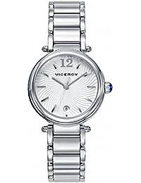 Viceroy Reloj Analogico para Mujer de Cuarzo con Correa en Acero Inoxidable 471054-85