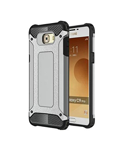 Samsung Galaxy C9 Pro Shock Proof Back Cover By Tecozo -Grey