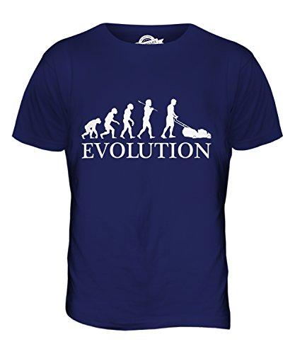CandyMix Rasenmäher Evolution Des Menschen Herren T Shirt Navy Blau