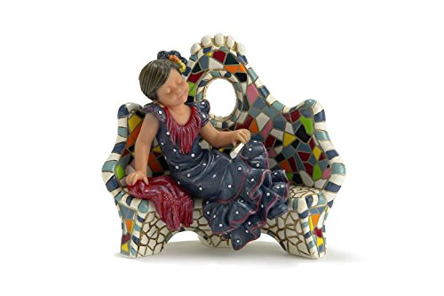 Nadal Decorative Figure resting on the small bench, Resin, 5.50x9.00x7.50 cm
