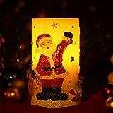 RMAN Weihnachtskerze Deko Licht Weihnachtsmann formte LED Paraffin Flammenlose Kabellos Kerze Deko Licht Lampe Batteriebetrieb Weihnachtsschmuck (Höhe: 14,5cm)