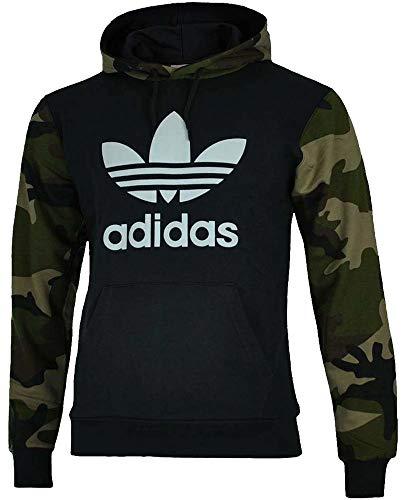 adidas Camo Oth Hoody Hooded Sweat, Herren L Schwarz (Utility Black) (Adidas Camo)