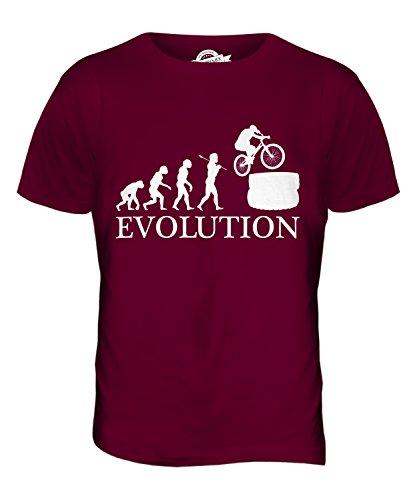 CandyMix Mountainbike Evolution Des Menschen Herren T Shirt Burgunderrot