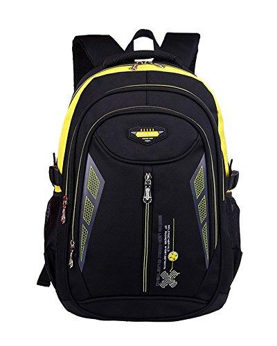 Imagen de  escolar impermeable  bolsa escolar casual  de colegio amarillo