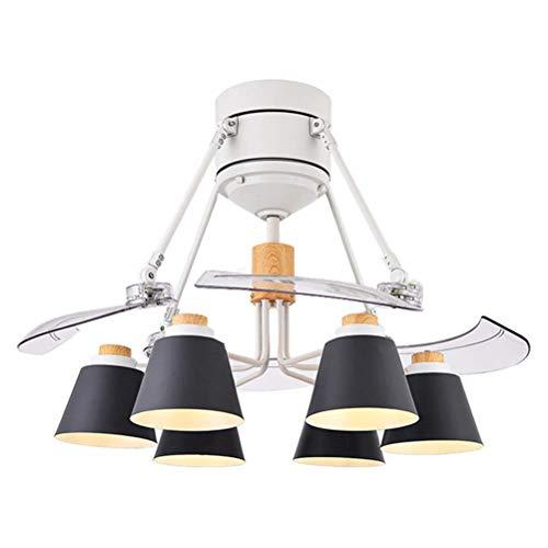 Kreative Deckenventilatoren mit Lampe Moderne minimalistische Leuchte Unsichtbarer Schlafzimmerventilator Anhigher Relief Lighting Operating Shutter -