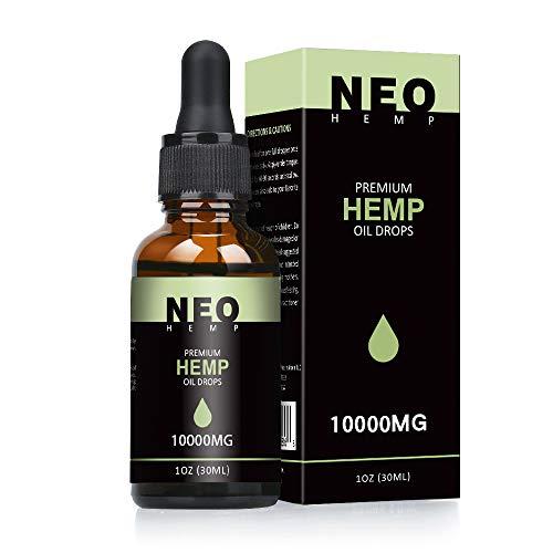 NeoHemp Hanföl Tropfen 10000mg 30ml 100{1f54e633a2b476e9a8069fca919f072ee3d1a62c4f58c0fbda8aa78ef551b05c} reine natürliche Inhaltsstoffe Full Spectrum Co2 Extrahiert | Entzündungshemmend | Helfen, stress, angst und schmerzen zu reduzie MEHRWEG