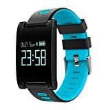 Familizo DM68 Plus Fitness Tracker Blood Pressure Heart Rate Monitor Calls Messages Watch For SmartPhone (☆Blue)