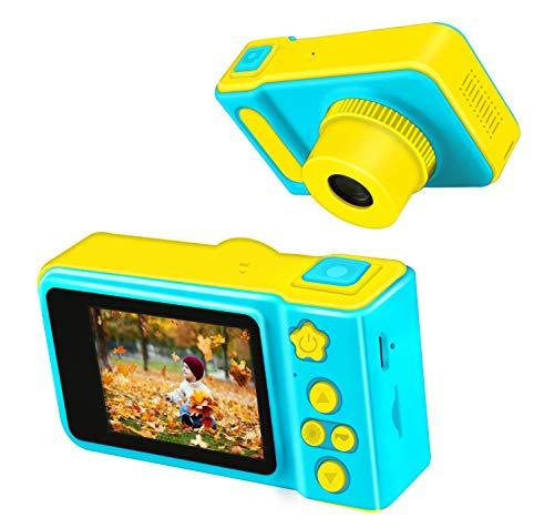 KITY Geschenke für Jungs ab 3-9 Jahre, Digitalkamera für Kinder Kinderkamera 3-9 Jahre Junge Geschenk Spielzeug für Jungen 3-9 Jahre Spielzeug 3 Jahren Junge 16GB(Blau)