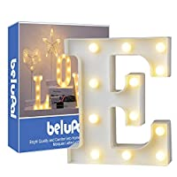 Led Letters Lights Alphabet Marquee Decoration Light up Sign Battery Operated for Party Wedding Receptions Holiday Home & Bath Bridal Bar Decor