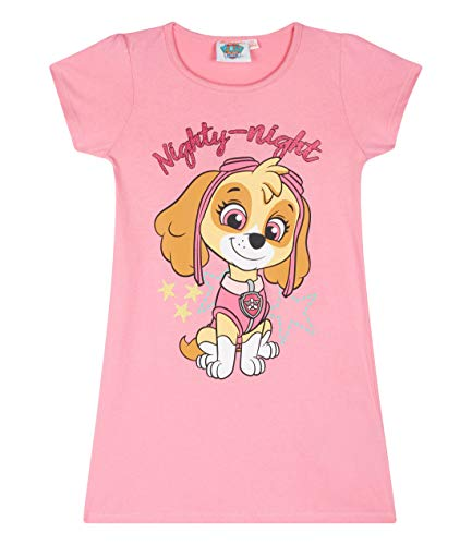 Paw Patrol Kinder Mädchen Nachthemd Kurzarm Gr.98-128 Schlafanzug Pyjama neu!, Größe:110, Farbe:rosa -