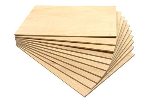 Chely Siglo tableros madera contrachapado de 400x600x4 mm(1 tablero), chapas de abedul lijado en ambas caras. Especial para cortes con láser, CNC, Pirograbado y Calado.