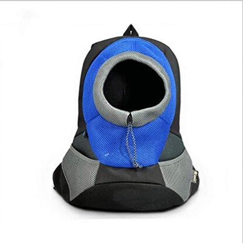 LIRUI Hunderucksack Haustier Katze Hundetasche Stoff Schulterriemen Träger Tasche Für Kleine Hunde Und Katzen,Blue(S) -
