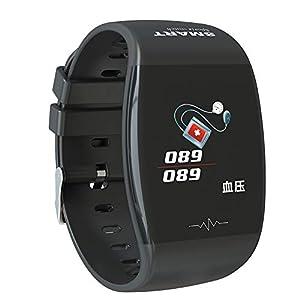 P1 Healthy Smart Watch, Christmas Gift, Blood Pressure Heart Rate Monitor Waterproof Bracelet, Sports Fitness Tracker Smart Watch for Women Men