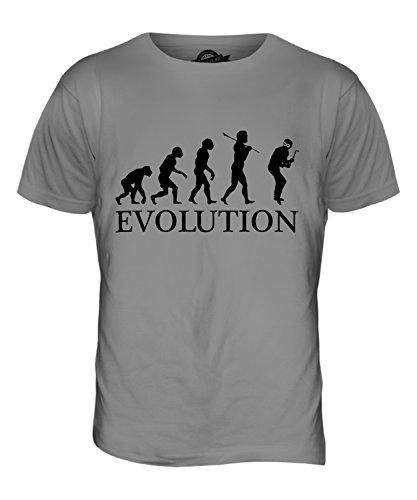 CandyMix Einbrecher Evolution Des Menschen Herren T Shirt Hellgrau