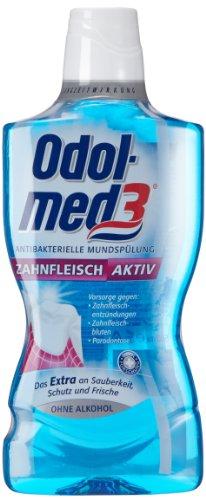 Odol-med 3 Zahnfleisch aktiv antibakterielle Mundspülung, 8 x 500 ml