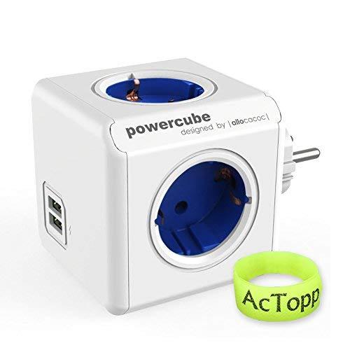 AcTopp Allocacoc PowerCube DuoUSB Original 4x Verteiler Blau